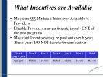 what incentives are available