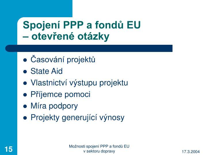 Spojení PPP a fondů EU