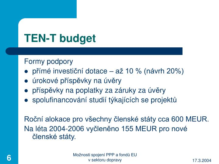 TEN-T budget