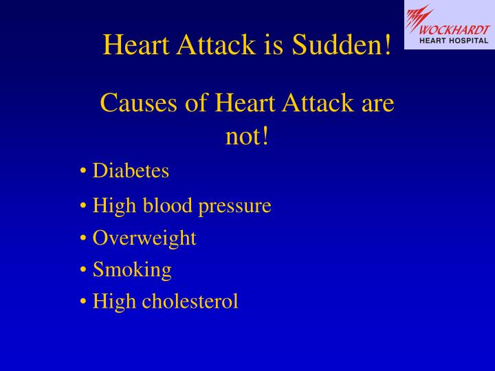 Heart Attack is Sudden!