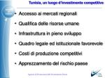 tunisia un luogo d investimento competitivo
