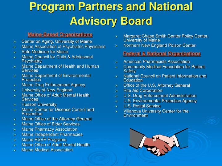 Program Partners and National Advisory Board