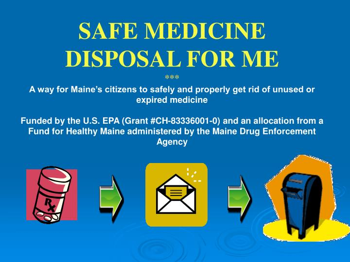 SAFE MEDICINE DISPOSAL FOR ME