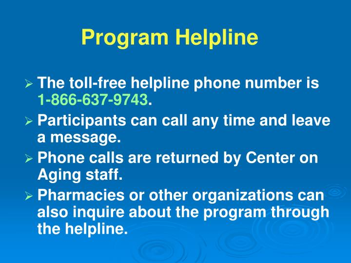 The toll-free helpline phone number is