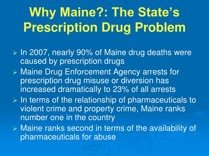 Why maine the state s prescription drug problem