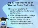 top 10 tips how to be an effective online instructor