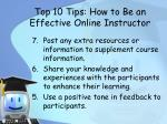 top 10 tips how to be an effective online instructor1