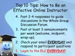 top 10 tips how to be an effective online instructor2