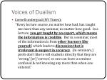 voices of dualism
