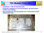 tec module production