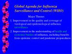global agenda for influenza surveillance and control who
