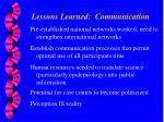 lessons learned communication