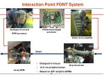 interaction point font system