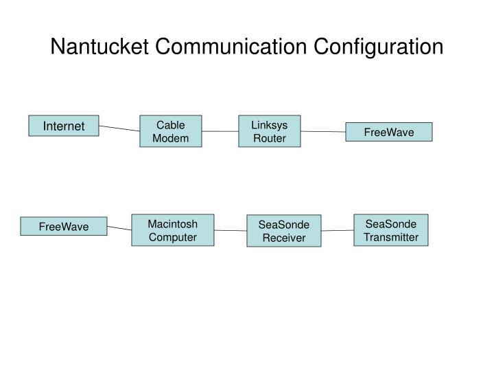 Nantucket Communication Configuration