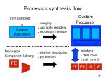 processor synthesis flow