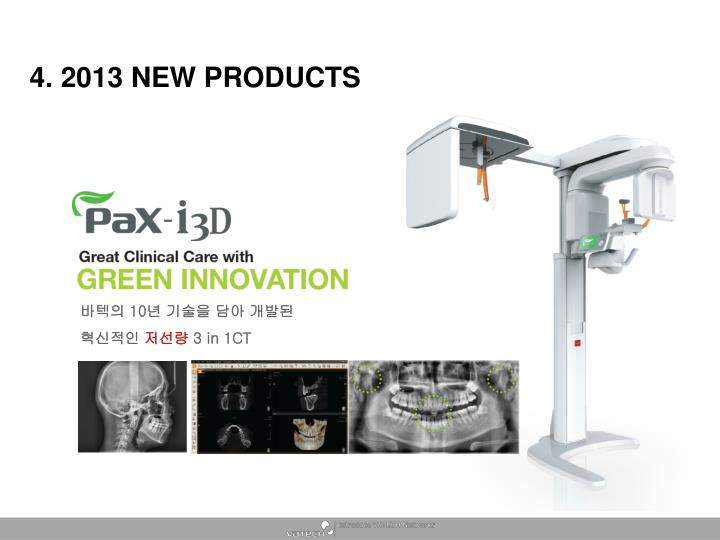 4. 2013 NEW PRODUCTS