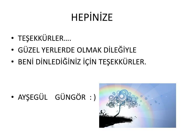 HEPİNİZE