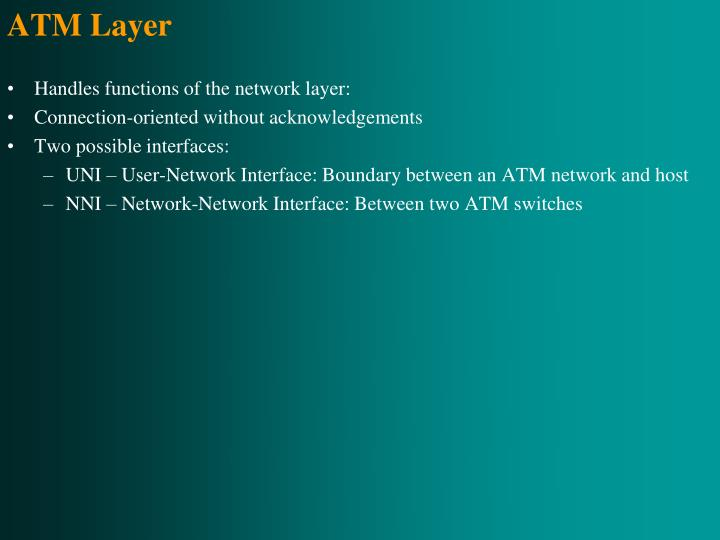 ATM Layer