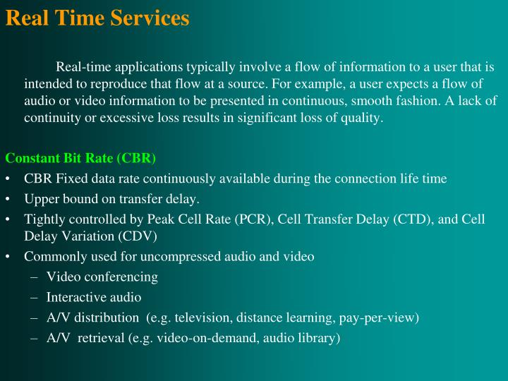 Real Time Services