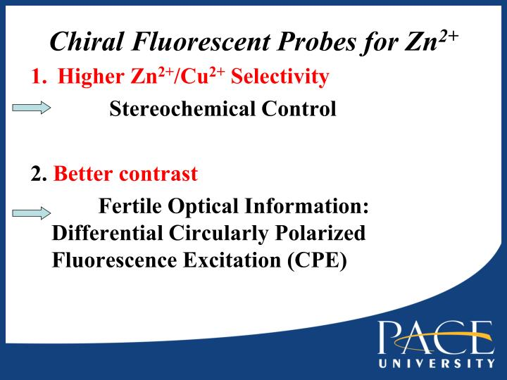 Chiral Fluorescent Probes for Zn