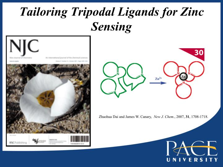 Tailoring Tripodal Ligands for Zinc Sensing