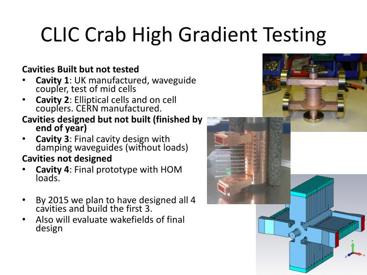 CLIC Crab High Gradient