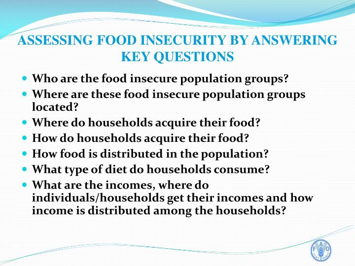 Who are the food insecure population groups?