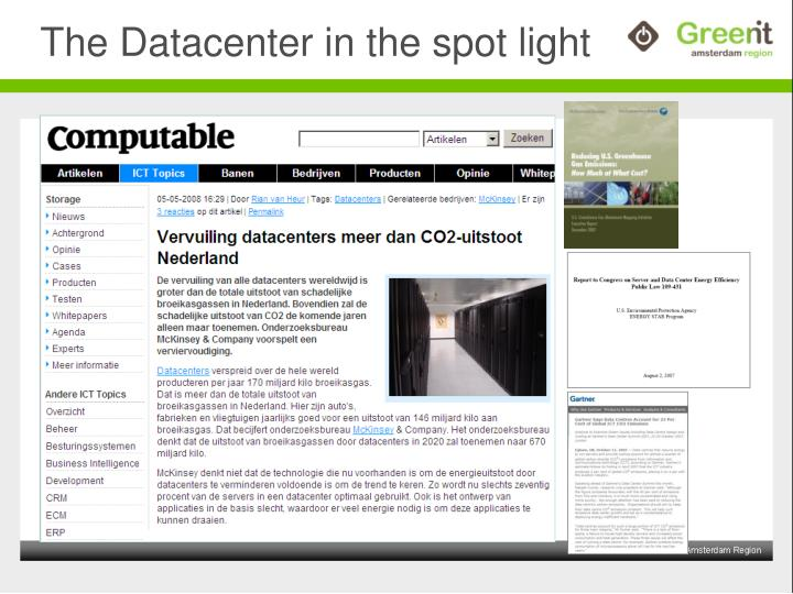 The datacenter in the spot light