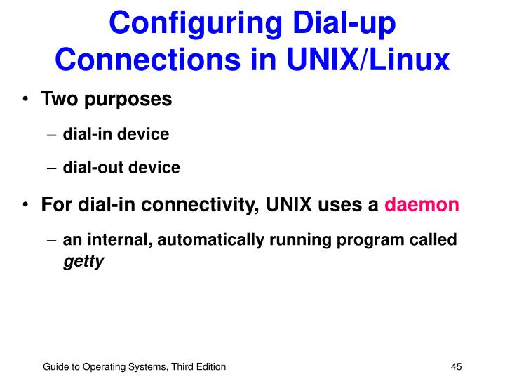 Configuring Dial-up Connections in UNIX/Linux