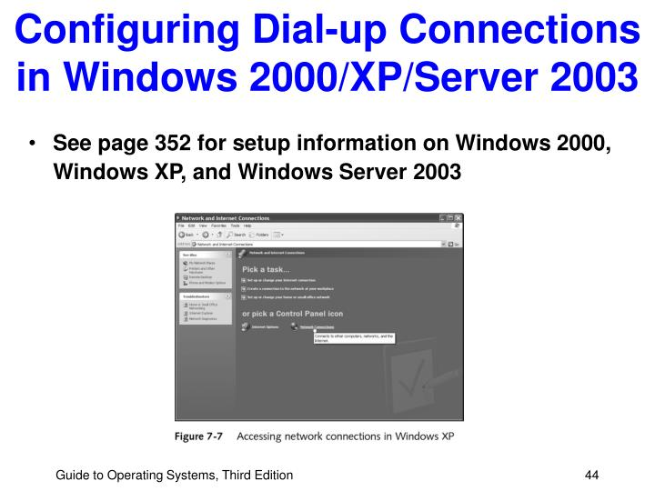 Configuring Dial-up Connections in Windows 2000/XP/Server 2003