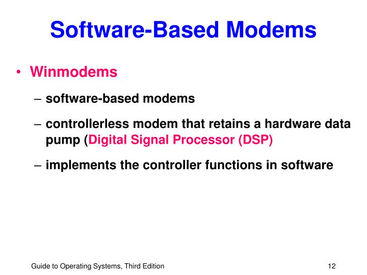 Software-Based Modems