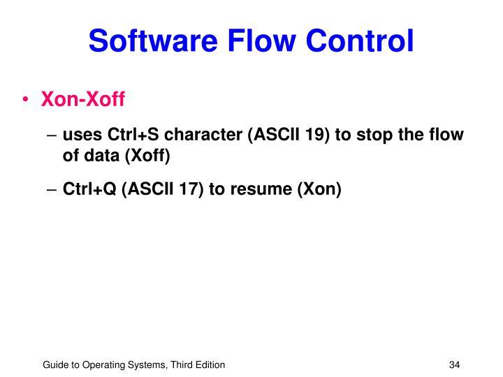 Software Flow Control