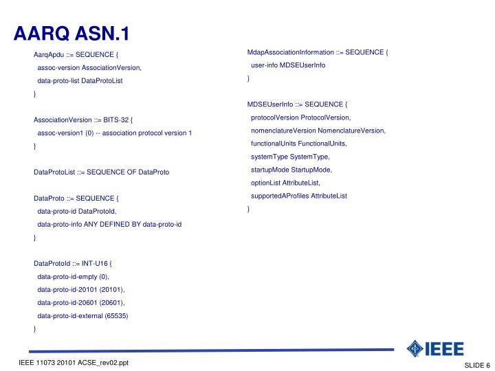 AARQ ASN.1