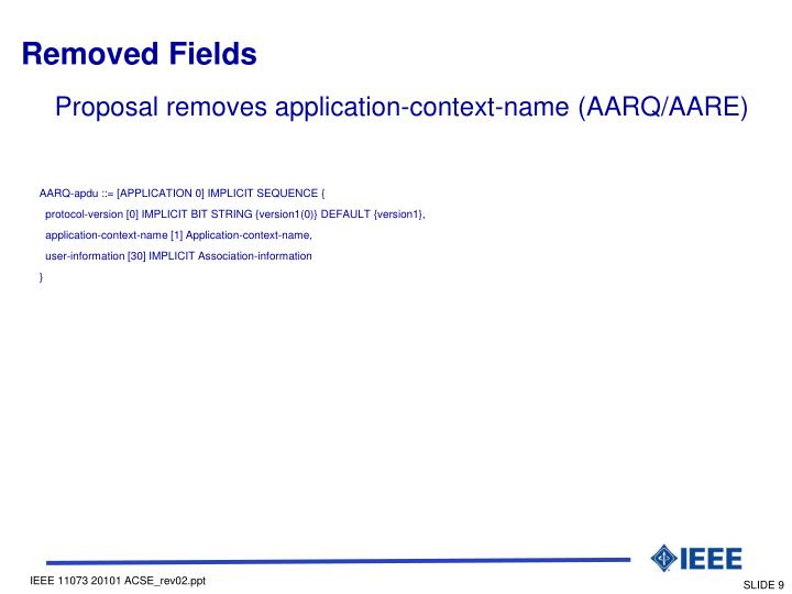 Removed Fields