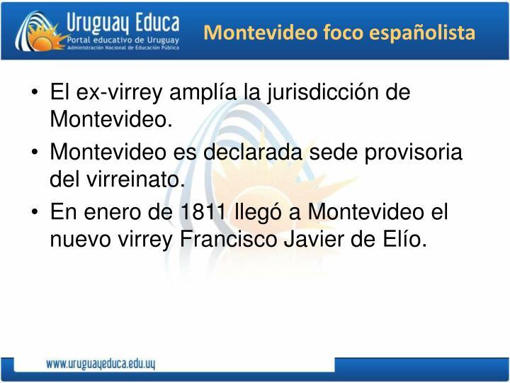 Montevideo foco españolista