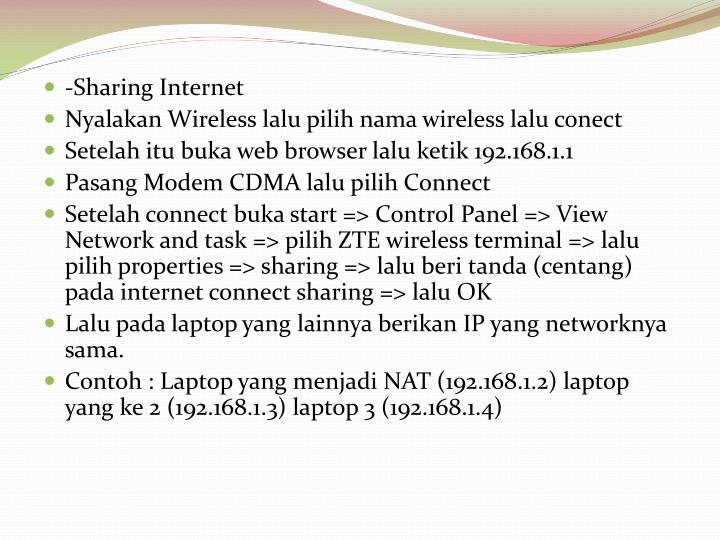 -Sharing Internet