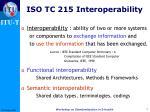 iso tc 215 interoperability