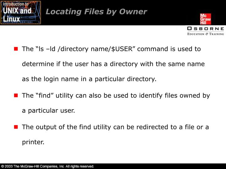 Locating Files by Owner