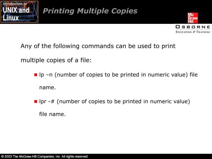 Printing Multiple Copies