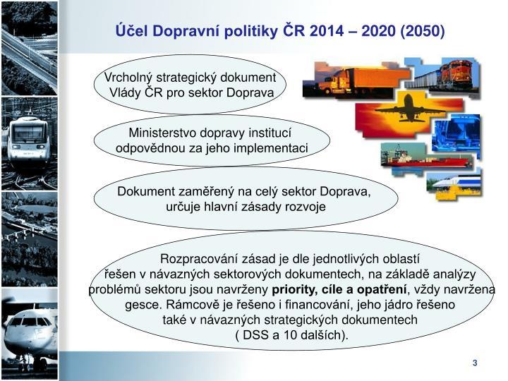 El dopravn politiky r 2014 2020 2050