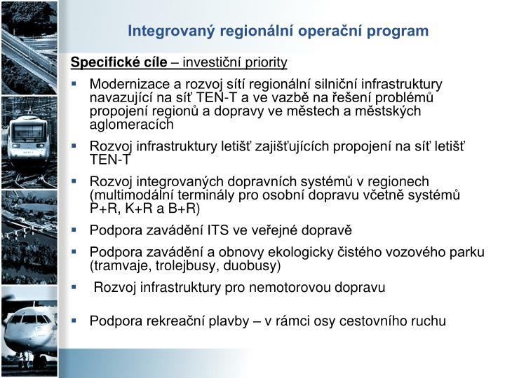 Integrovaný regionální operační program