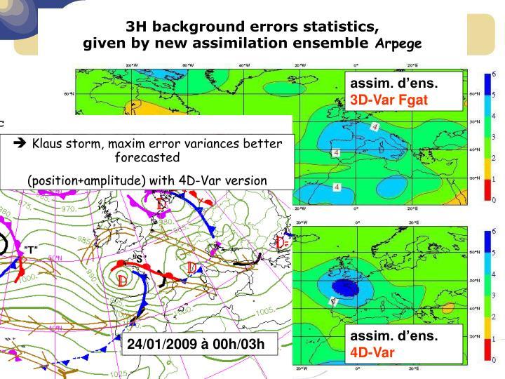 3H background errors statistics,