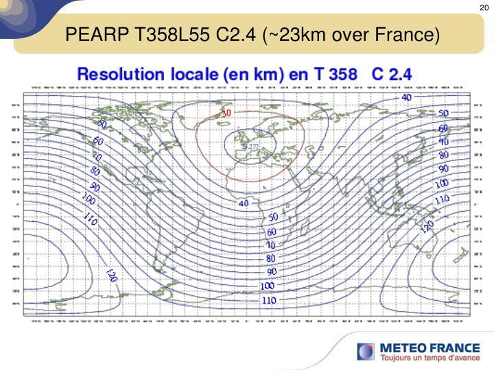 PEARP T358L55 C2.4 (~23km over France)