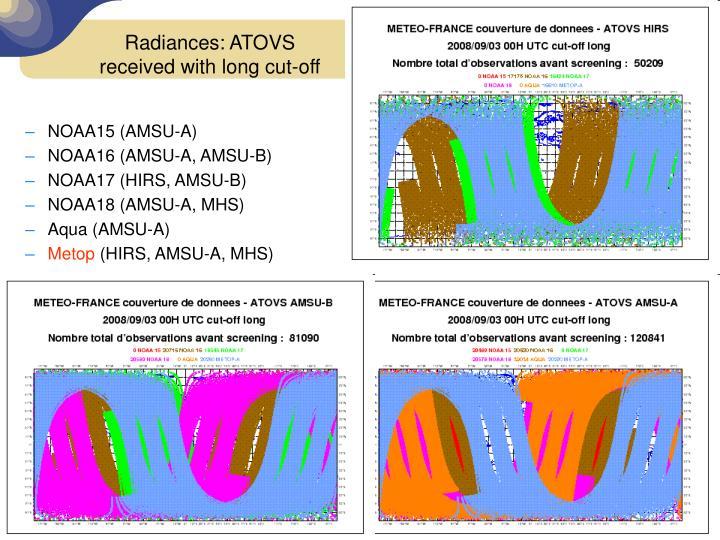 Radiances: ATOVS