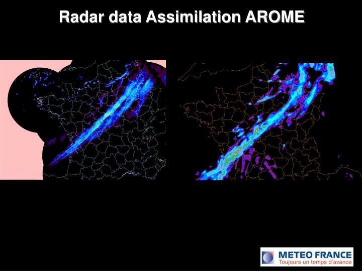 Radar data Assimilation AROME