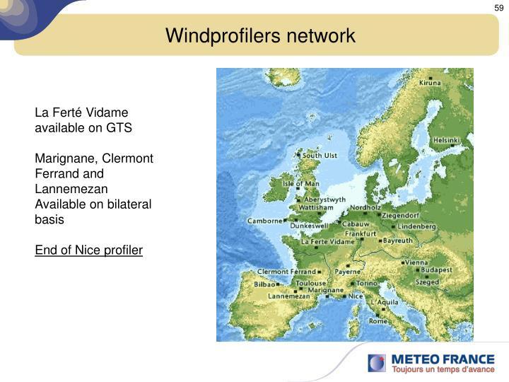 Windprofilers network