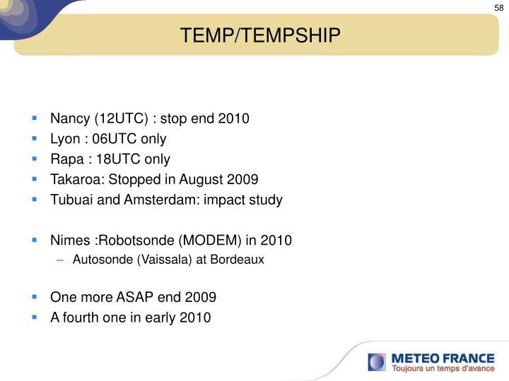 TEMP/TEMPSHIP
