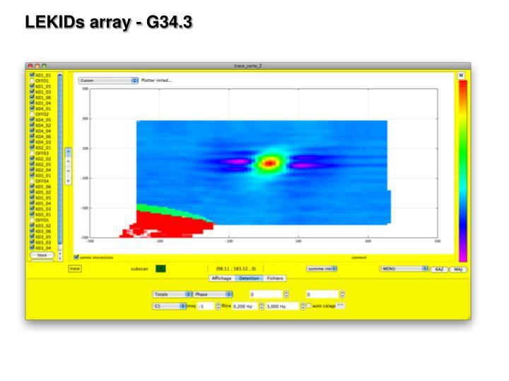 LEKIDs array - G34.3