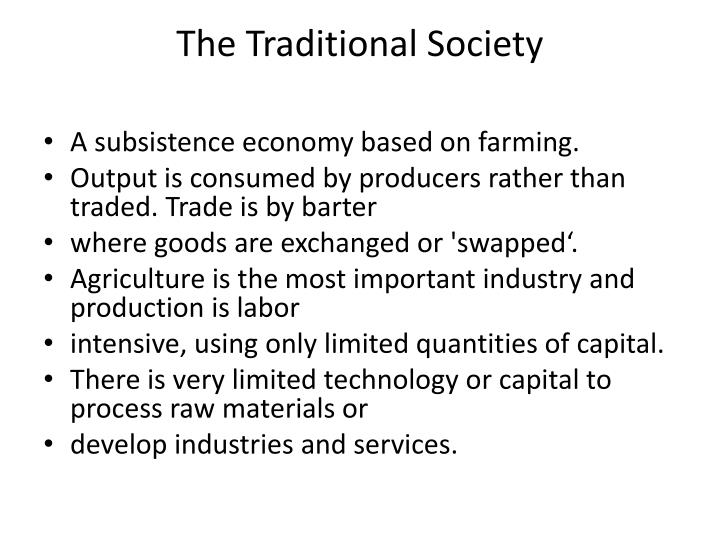 The Traditional Society