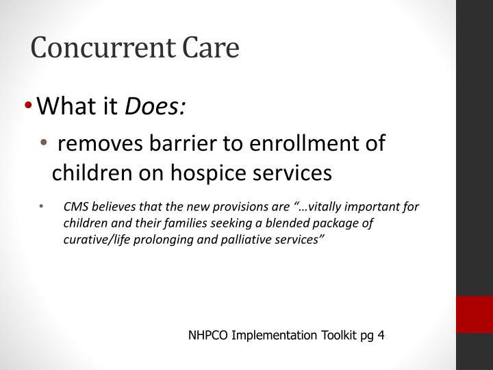 Concurrent Care